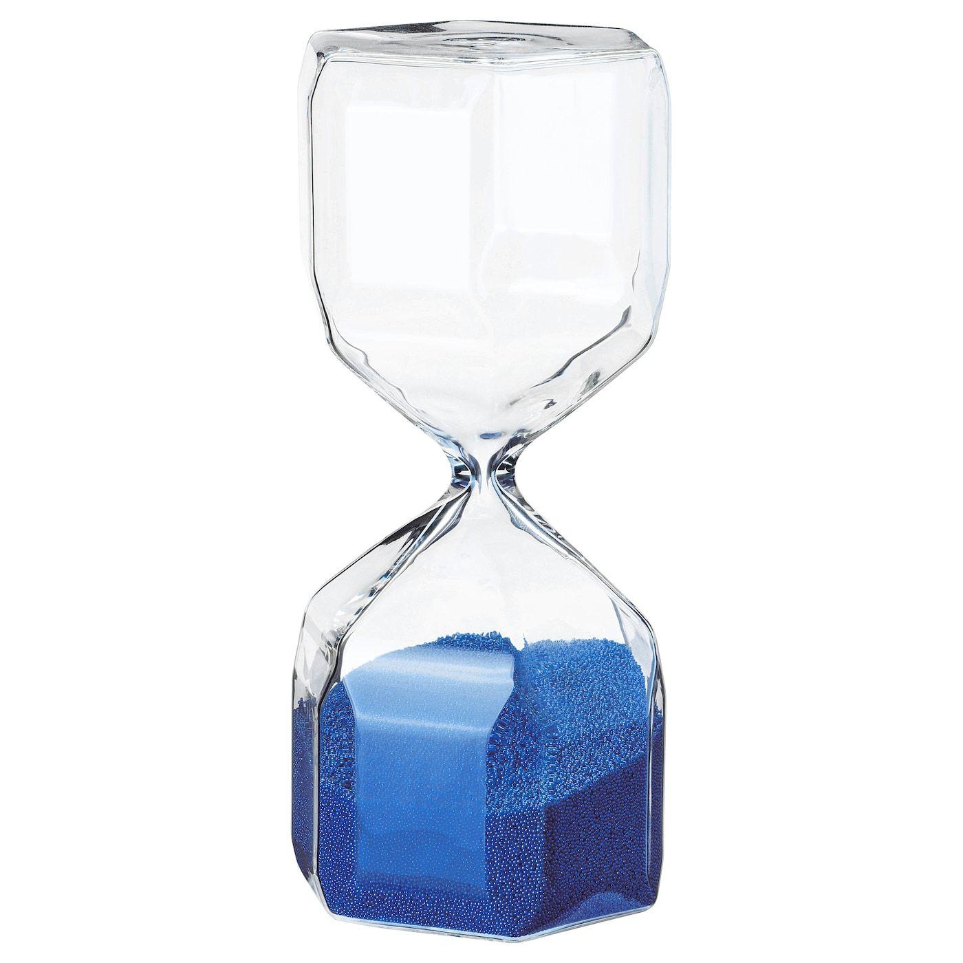 Tillsyn Decoratieve Zandloper Helder Glas Blauw Ikea Helder Glas Zandloper Glas