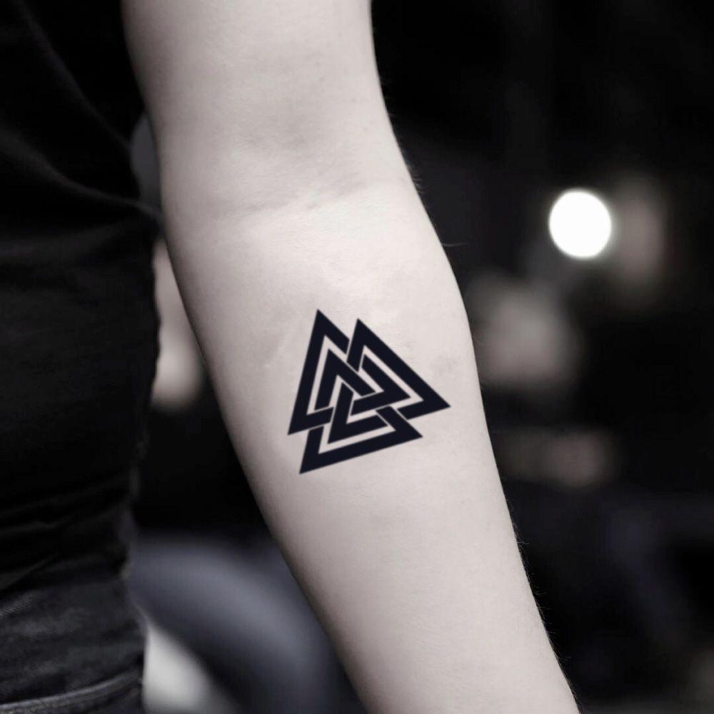 Three Triangles Temporary Tattoo Sticker Set Of 2 Con Imagenes