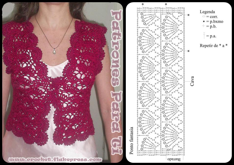 Bolero a crochet con patron | Crochet Patrones Para Ti | Boleros ...