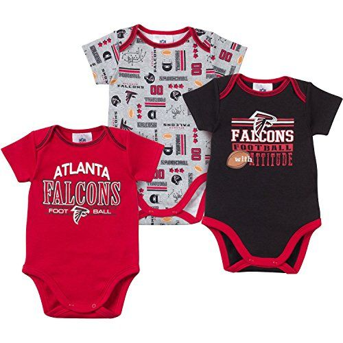 f22066823 Atlanta Falcons Baby Infant 3 Piece Bodysuit Creeper Set 03 Months -- Want  to know more