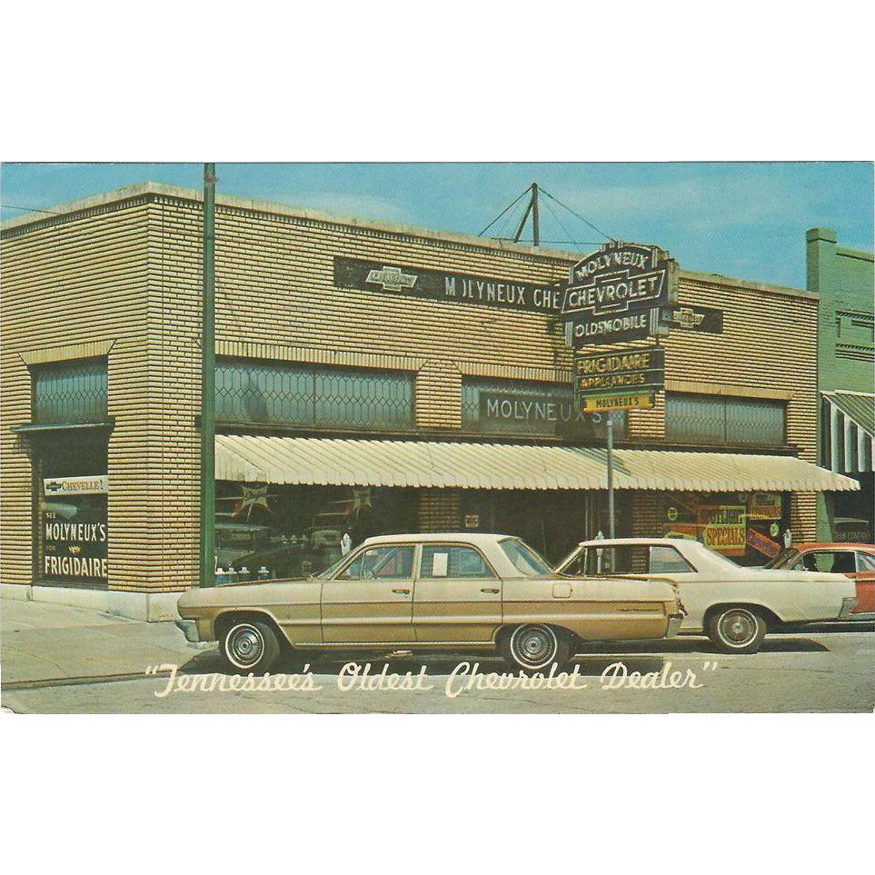 Molyneaux Chevrolet Company Rockwood Tn Tennessee Vintage Postcard