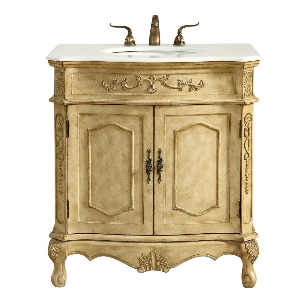 Elegant Furniture Abbott 32 In Single Bath Vanity W 1 Shelf 2