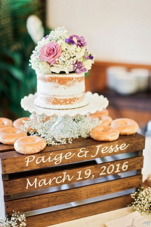 Rustic Wedding Cake Stand Crate By Countrybarn On Etsy