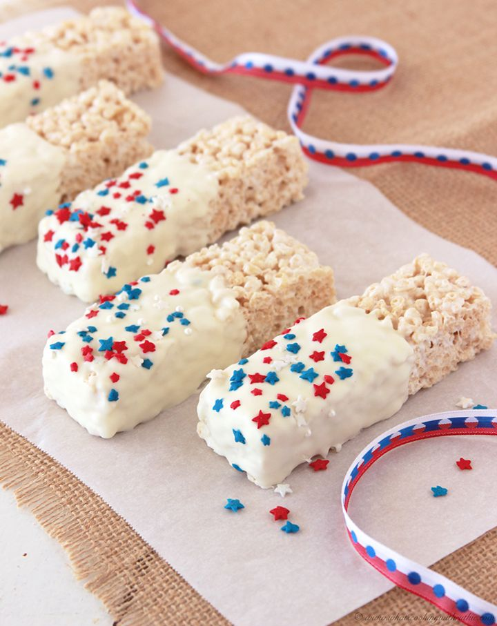 Patriotic Rice Krispie Treats Microwave Recipesrice