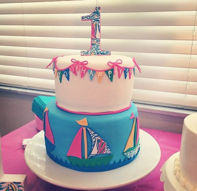 Lilly Pulitzer Birthday Cake party event ideas Pinterest