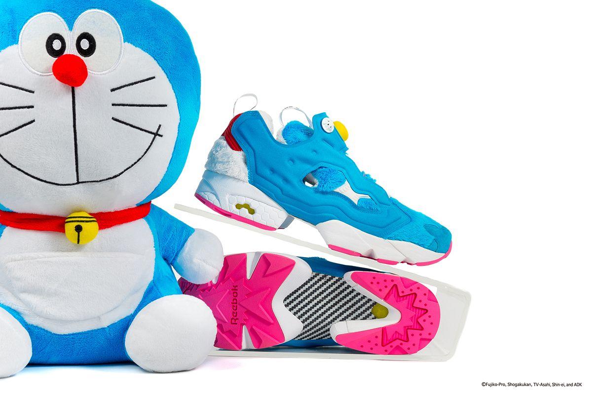 "Packer Shoes x atmos x Reebok Insta Pump Fury ""DORAEMONâ"