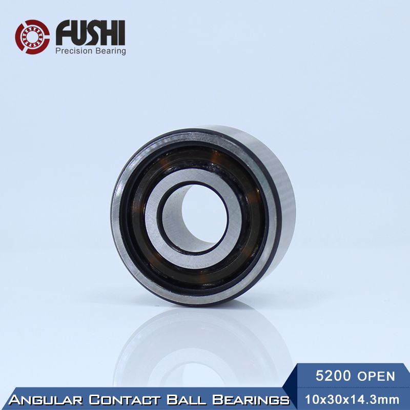 5200 Open Bearing 10 X 30 X 14 3 Mm 1 Pc Axial Double Row Angular Contact 5200 3200 3056200 Ball Bearings Affiliate Angular Hardware Axial