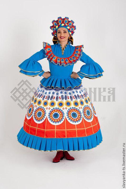 """Танцевальный костюм """"Дымковская игрушка""""   Костюм, Идеи ..."""