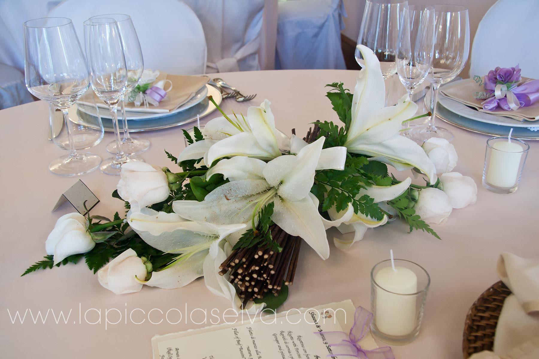 Centrotavola e addobbi floreali per ricevimenti di for Addobbi per promessa di matrimonio