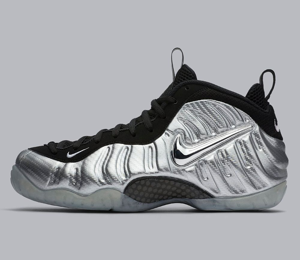 Cheap Shoes Clearance Nike Air Foamposite Pro Silver Surfer Metallic Silver Black Basketball Shoe For Sale