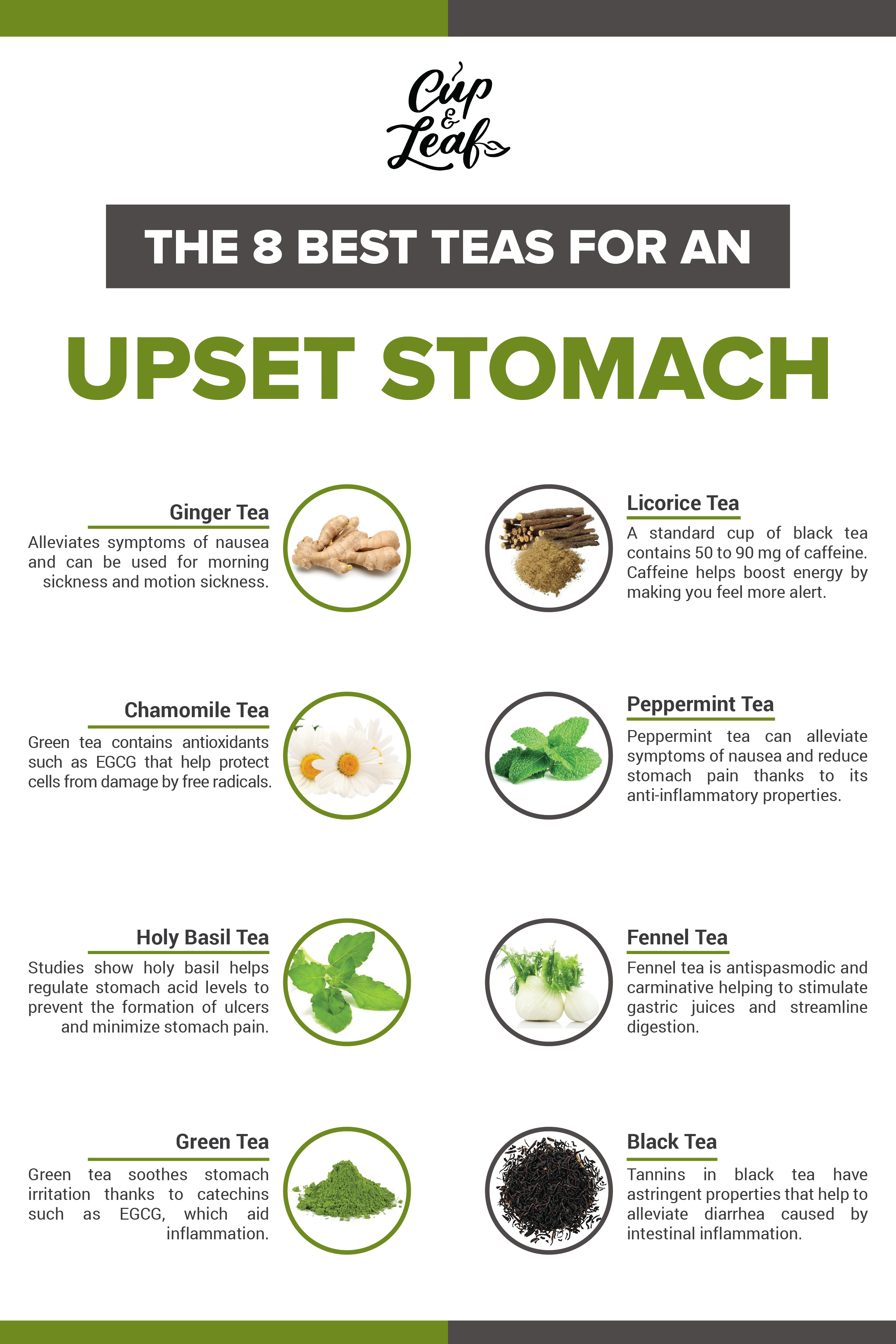 the 8 best teas for an upset stomach | stomach remedies