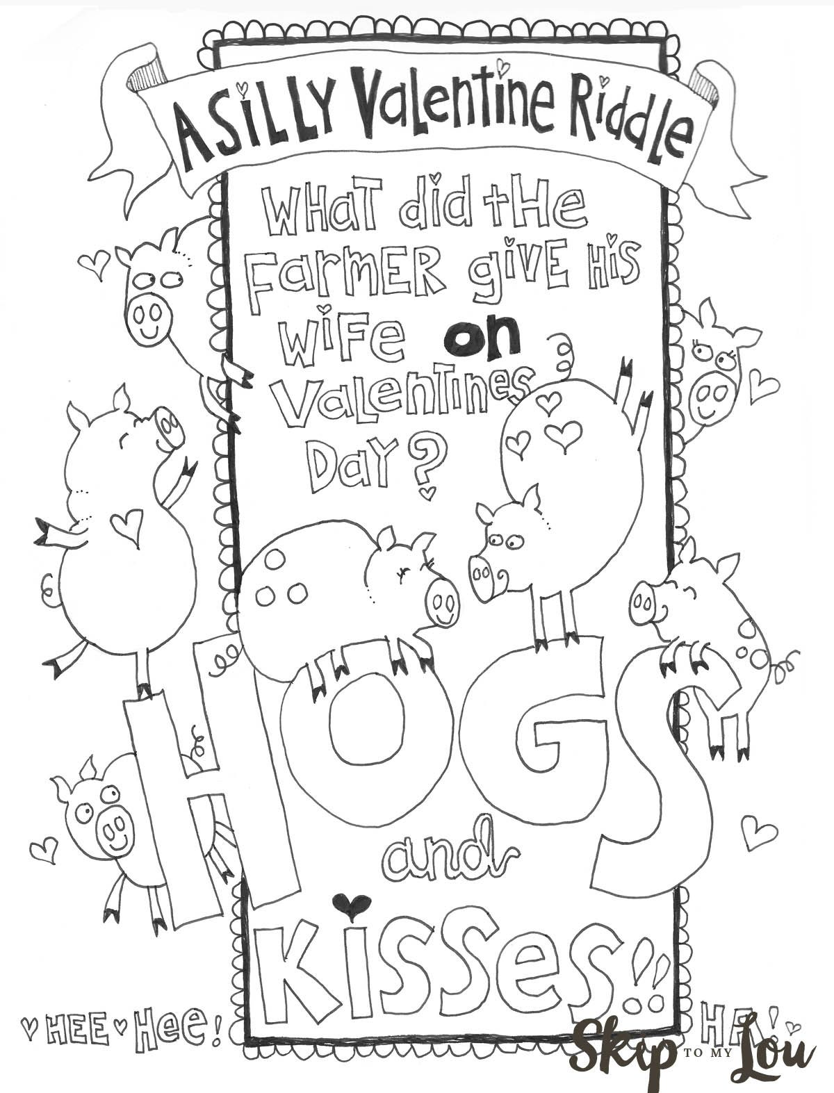The Cutest Valentines Coloring Pages Holiday Pinterest