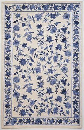White And Blue China Pattern Rug Floral Rug Blue And White Rug Floral Area Rugs
