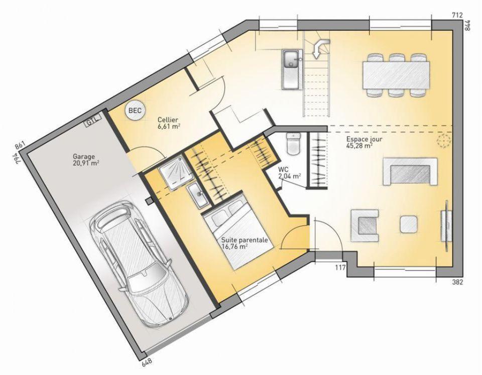 Maison - Inova 114 G - Maisons France Confort - 114 m2 Faire