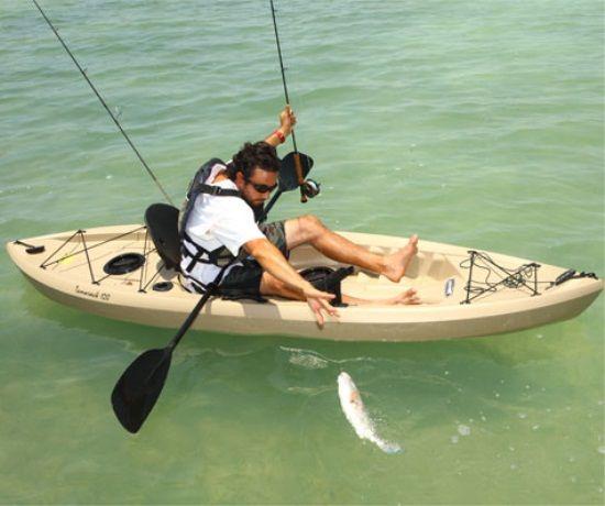 Lifetime Tamarack 90508 Muskie Angler 10 Foot Sit On Top Fishing Kayak Angler Kayak Kayak Fishing Kayaking