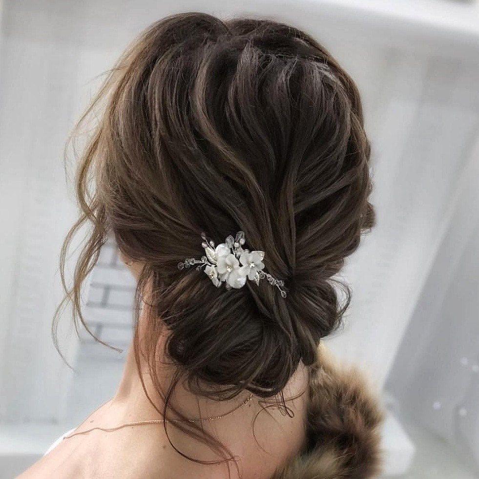 Bridal Hair Pins Bridal Hair Pins Crystal hair pins Beige Ivory hair piece Decorative Hair Pins Wedding hair pins Delicate pins