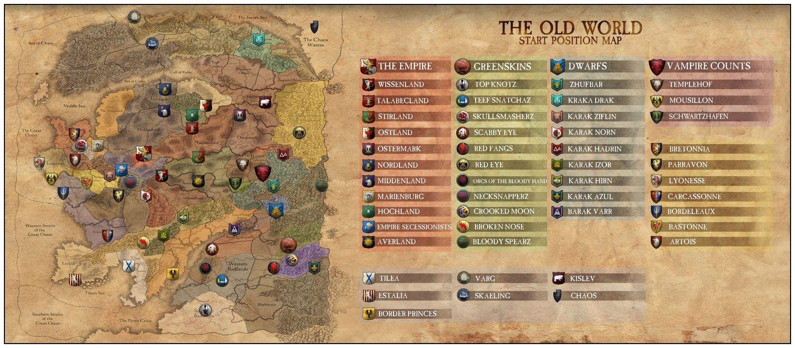 Total War: Warhammer - The Strategic Map   Map   Total war
