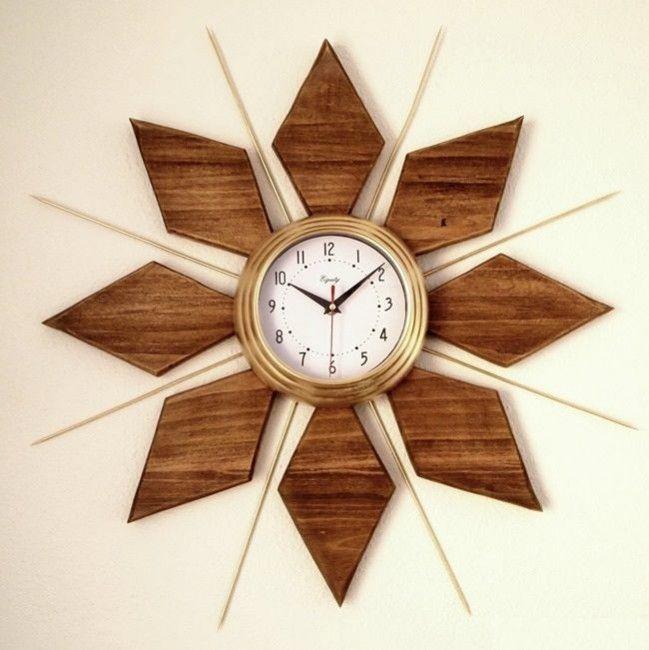 como hacer un reloj decorativo de pared