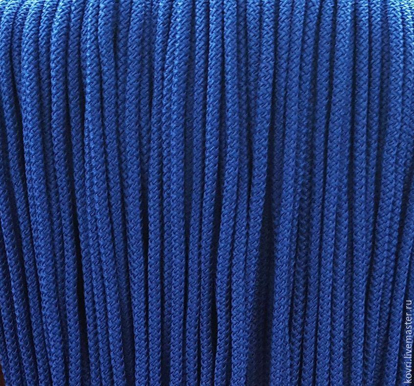 купить шнур для вязания ковров тёмно синий шнур шнур для