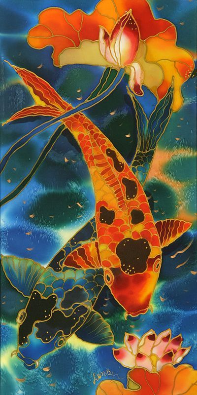 Two koi yelena sidorova one man 39 s fish is another man - Carp wallpaper iphone ...