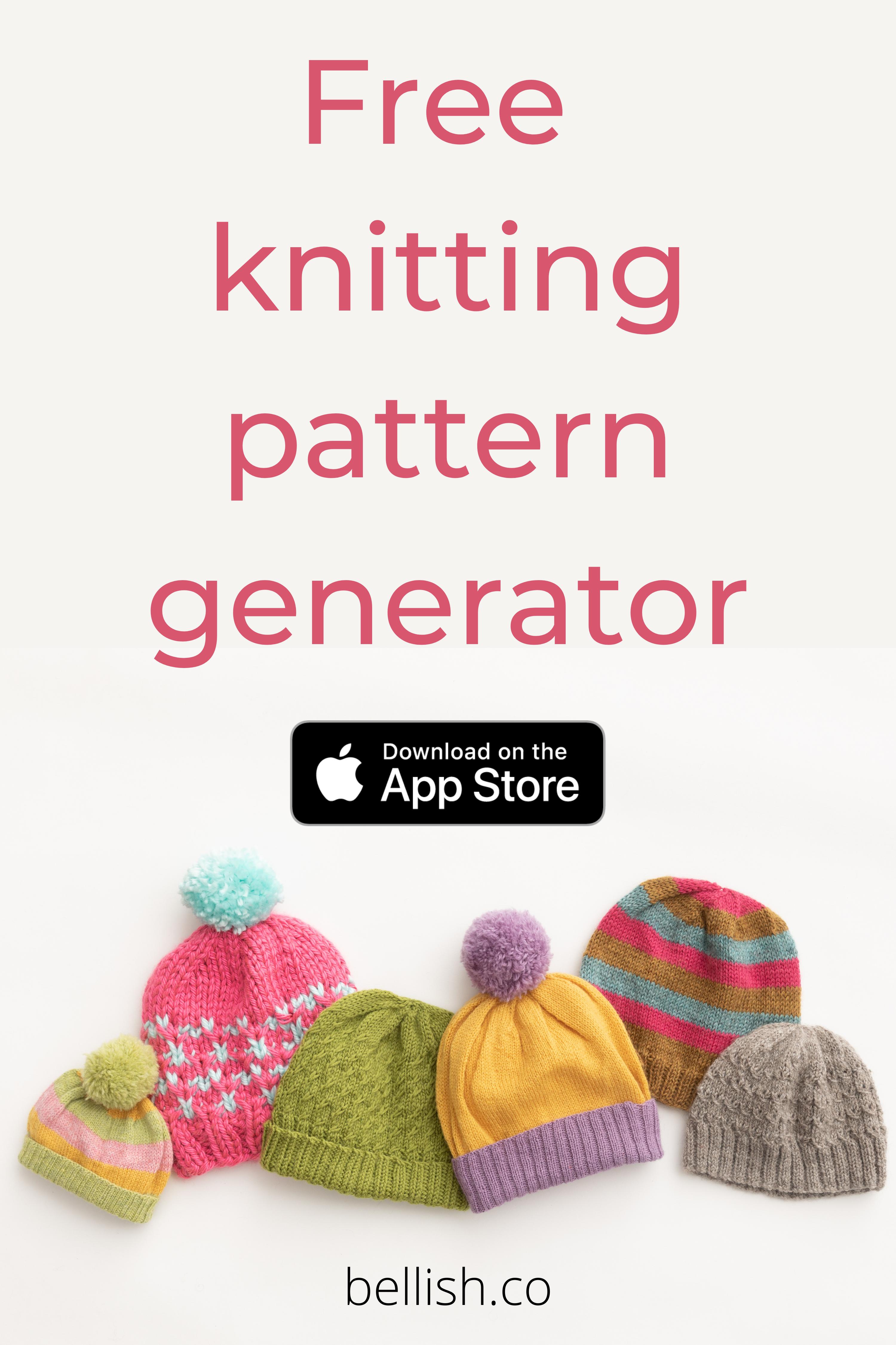 Free Knitting Pattern Generator In 2021 Baby Hat Knitting Patterns Free Beanie Knitting Patterns Free Knitting Patterns Free Beginner