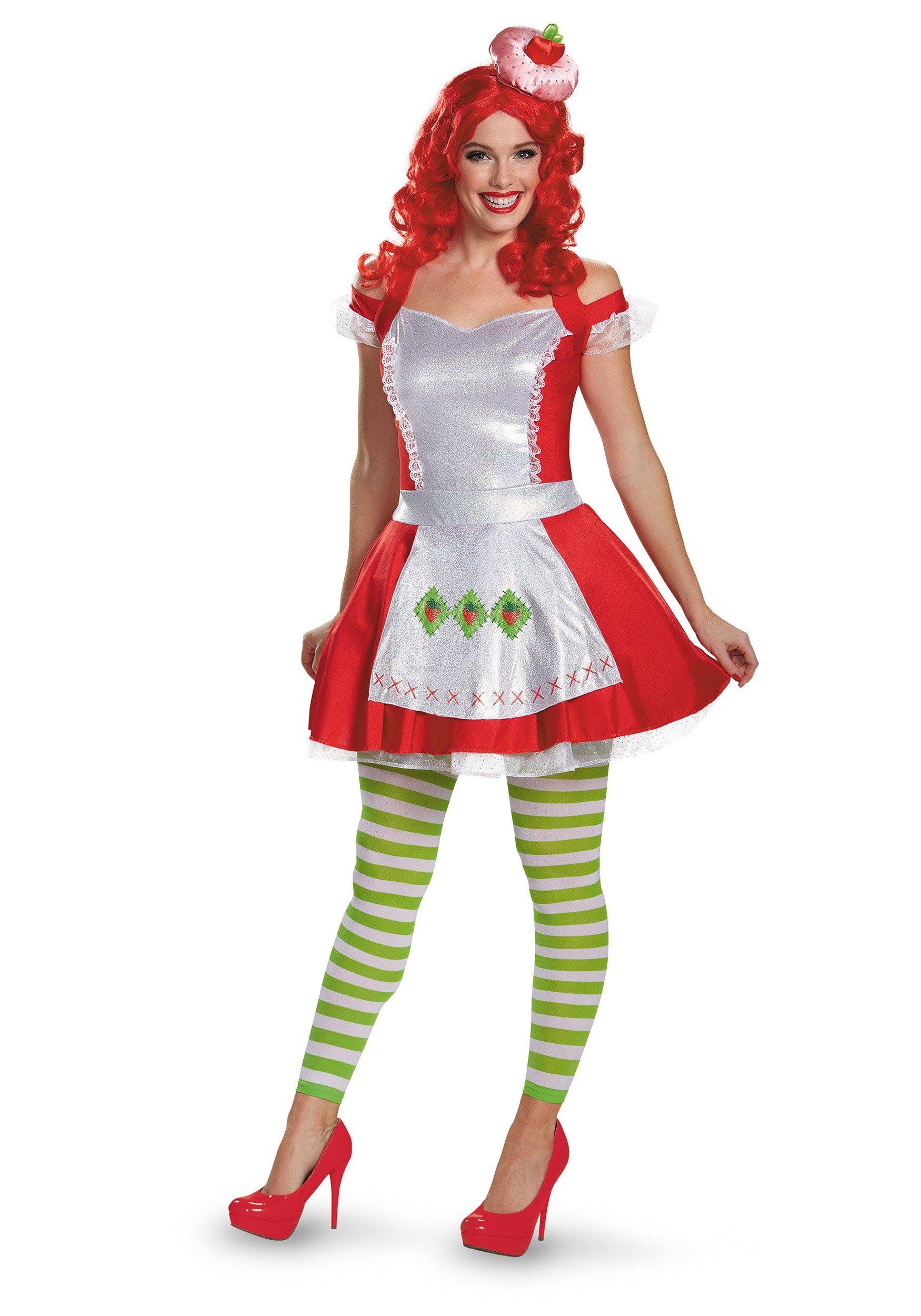 Strawberry Shortcake Deluxe Adult Costume Strawberry