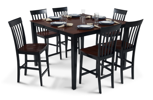 Bobs Furniture Pub Table With 18 Leaf 6 Counter Chairs
