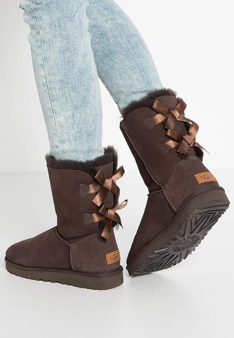 UGG BAILEY BOW II - Bottines - chocolate - ZALANDO.FR