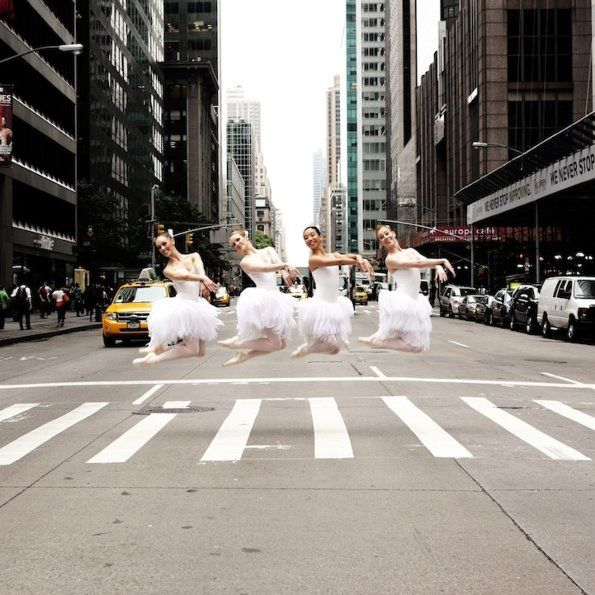 NYC.  The Australian Ballet crossing the street the way they use to // by Lisa Tomasetti