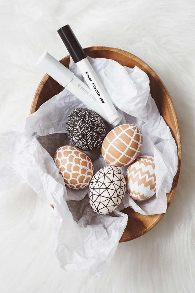 Photo of DIY Easter decoration: Doodle Easter Eggs – paint Easter eggs with pencils My Mirror World