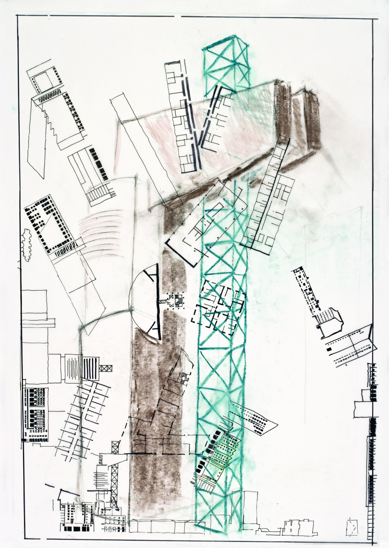 """LUCIANO SEMERANI """"Montaggio di torre e case per il centro di Mestre"""""""