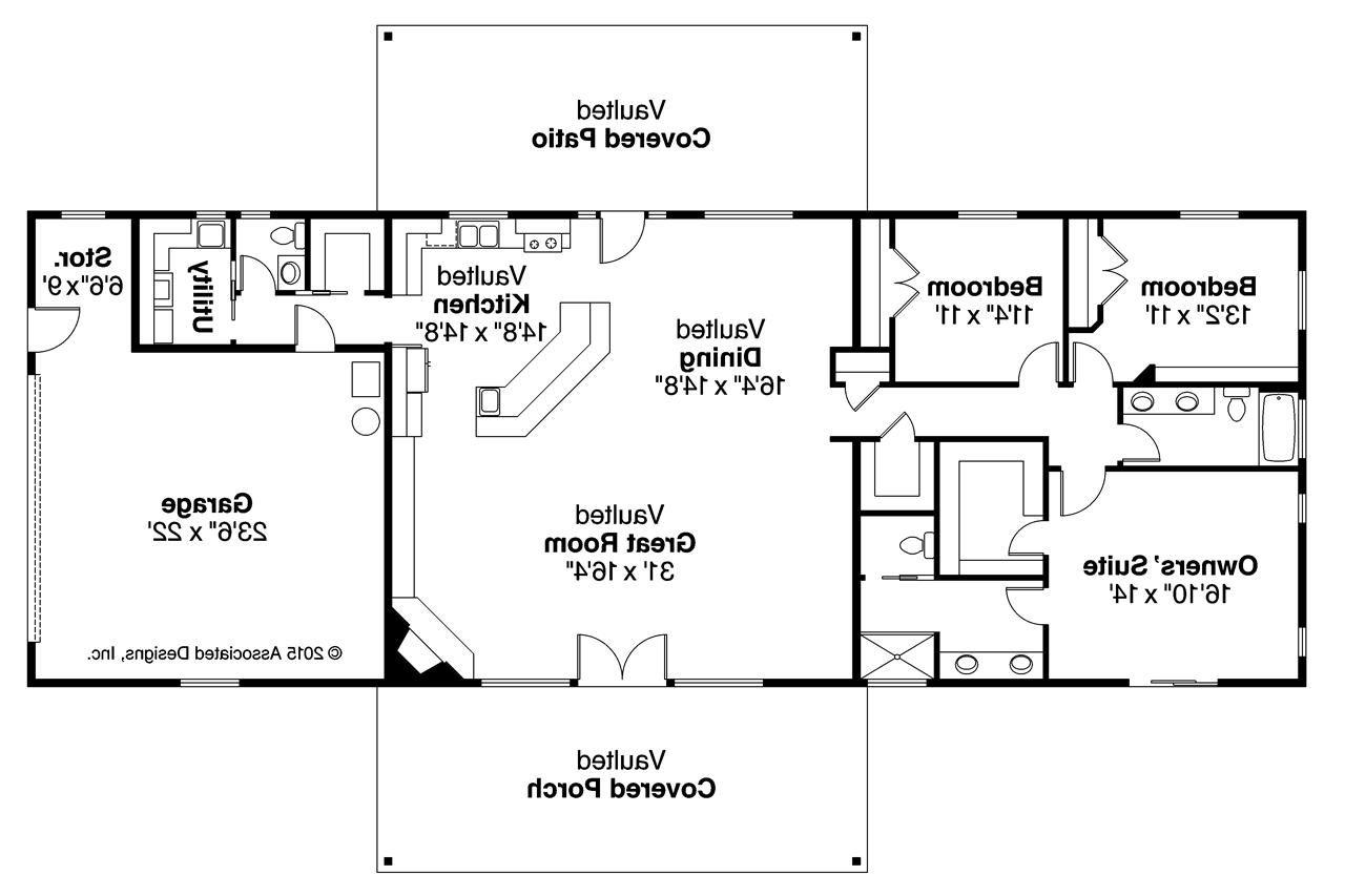 Ranch House Plan Ottawa 30601 Floor Plan Ranch House Floor Plans