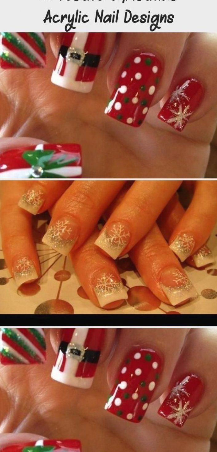 30 Festive Christmas Acrylic Nail Designs - Nail Art -  Accent nail     pearl base with red stripes  AccentNailsPastel  LightPinkAccentNails  SilverAccentN -  AccentNails  acrylic  Art  christmas  designs  festive  Nail  NailArtGalleries  nails  StilettoNails #manicures #plaquinhas #accent #nails #ring #finger