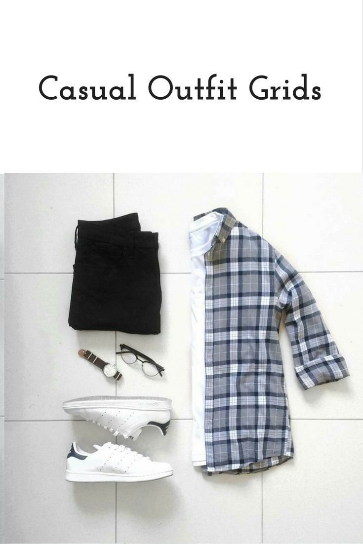 26 Coolest Casual Outfit Grids For Men #outfitgrid Casual outfits Grid for men #mens #fashion #style #outfitgrid