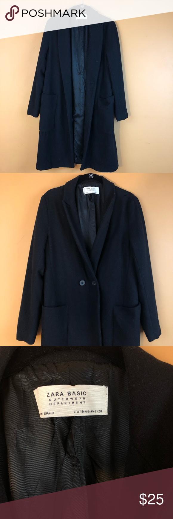 Zara Outerwear Black Coat Size Us 6 Black Coat Zara Outerwear [ 1740 x 580 Pixel ]