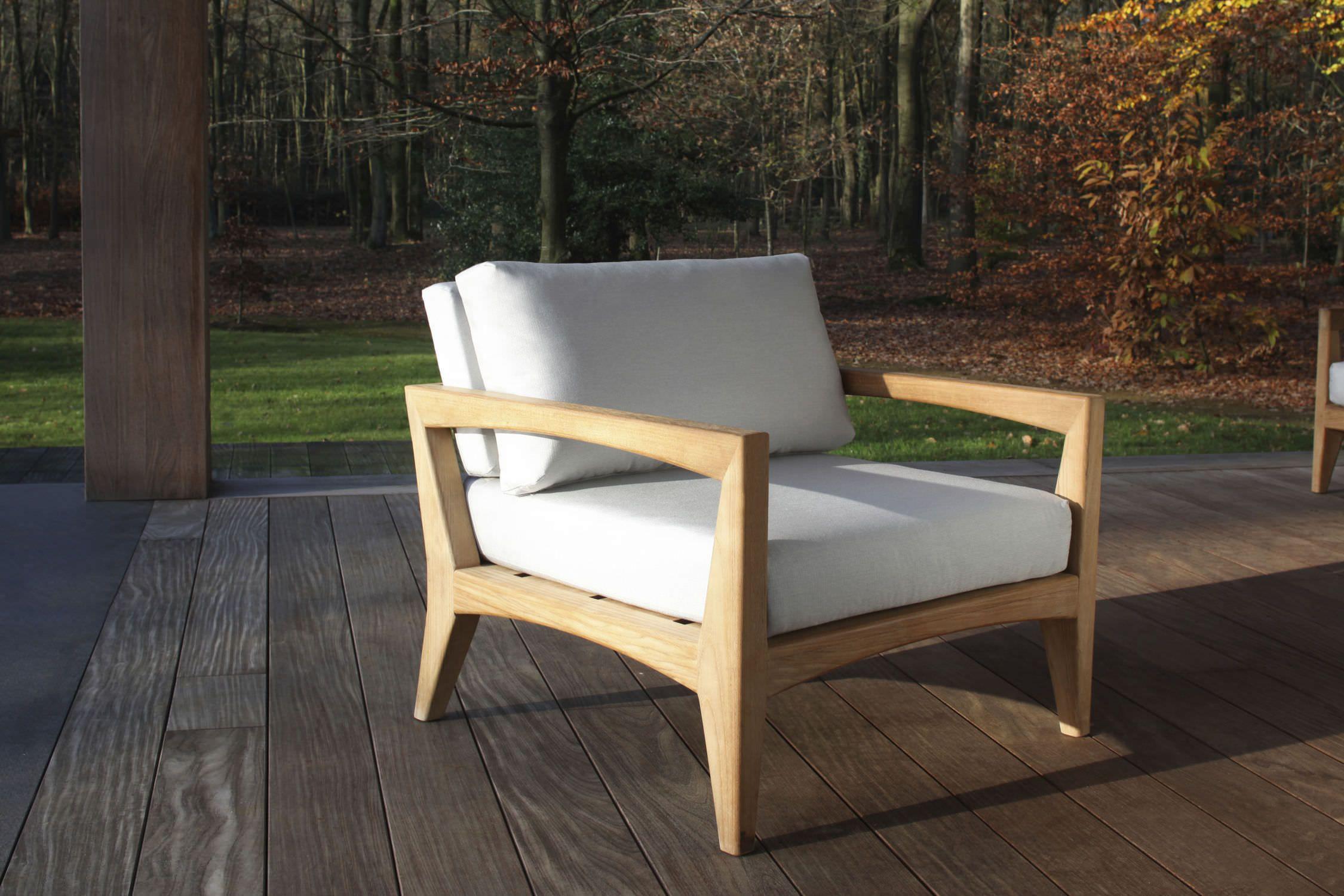 Outdoor Mobel Modern ~ Modern sessel aus teakholz garten zntl by kris van