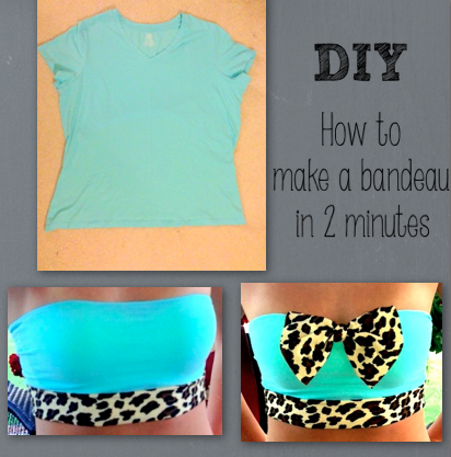 DIY bandeau. If ya don't have time to buy one...... make one. #DIY #bandeau