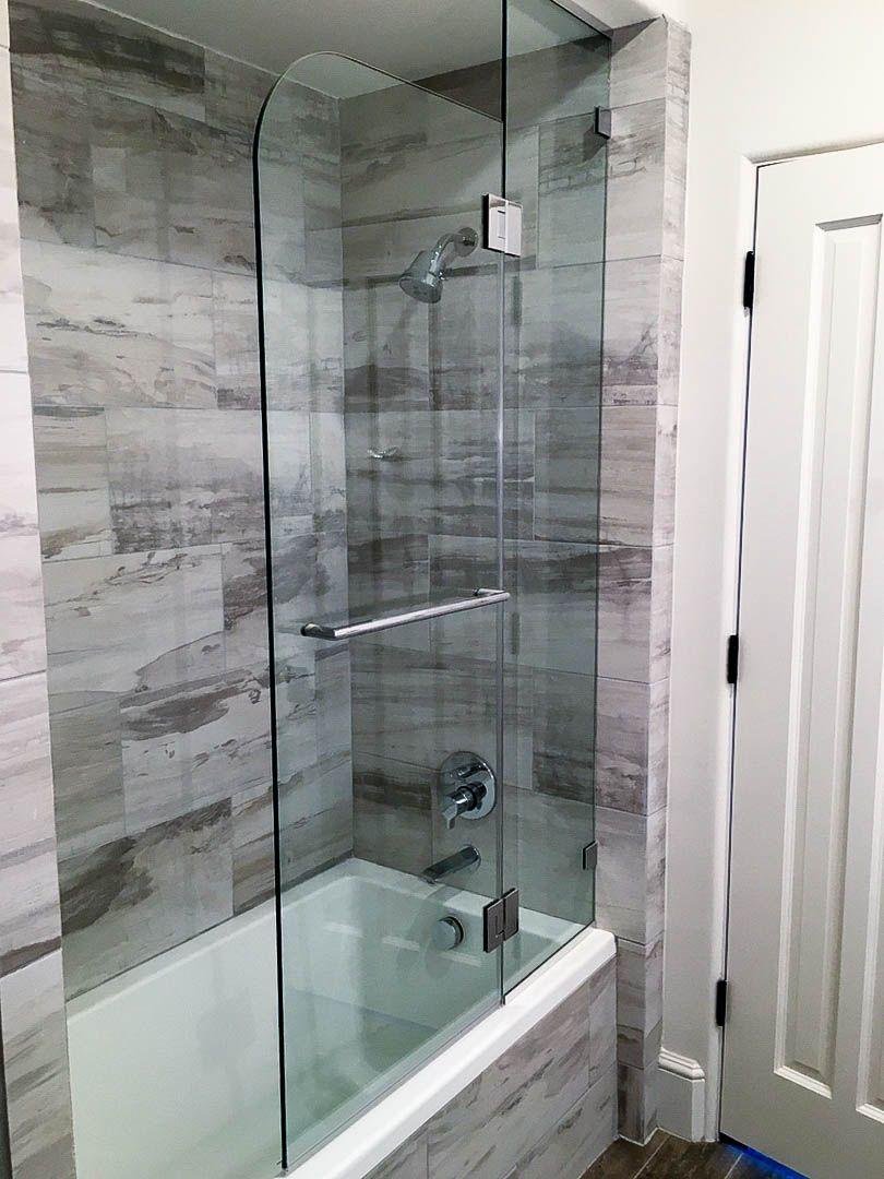 Custom shower doors by art glass by wells