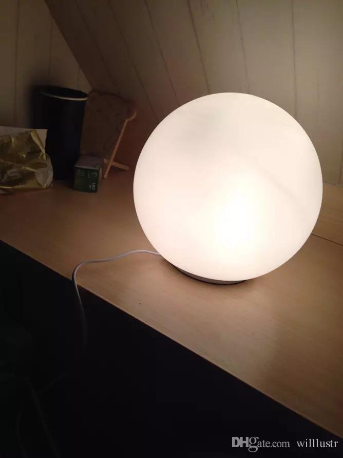 2021 Modern Led Table Lamp Round Ball Globe Lighting Frosted Milk White Lampshade Desk Light Glass Ball Glass Diffuser Bedside Bedroom Lamp From Willlustr 47 White Lamp Shade Lamp Modern Table Lamp