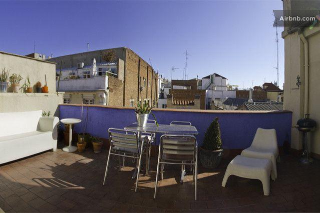 Habitación Privada Con Terraza En El ático In Madrid Desde