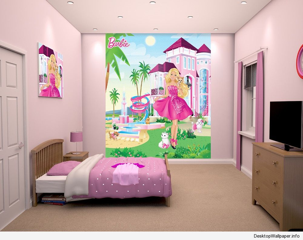 Barbie Wallpaper For Kids Room Novocom Top