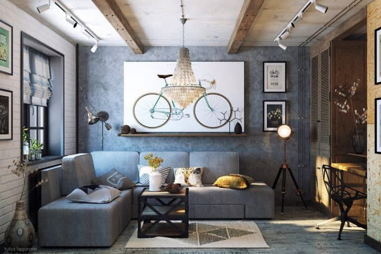 Awesome Industrial Style Living Room For Tiny House Industrial Living Room Design Industrial Style Living Room Modern Industrial Living Room