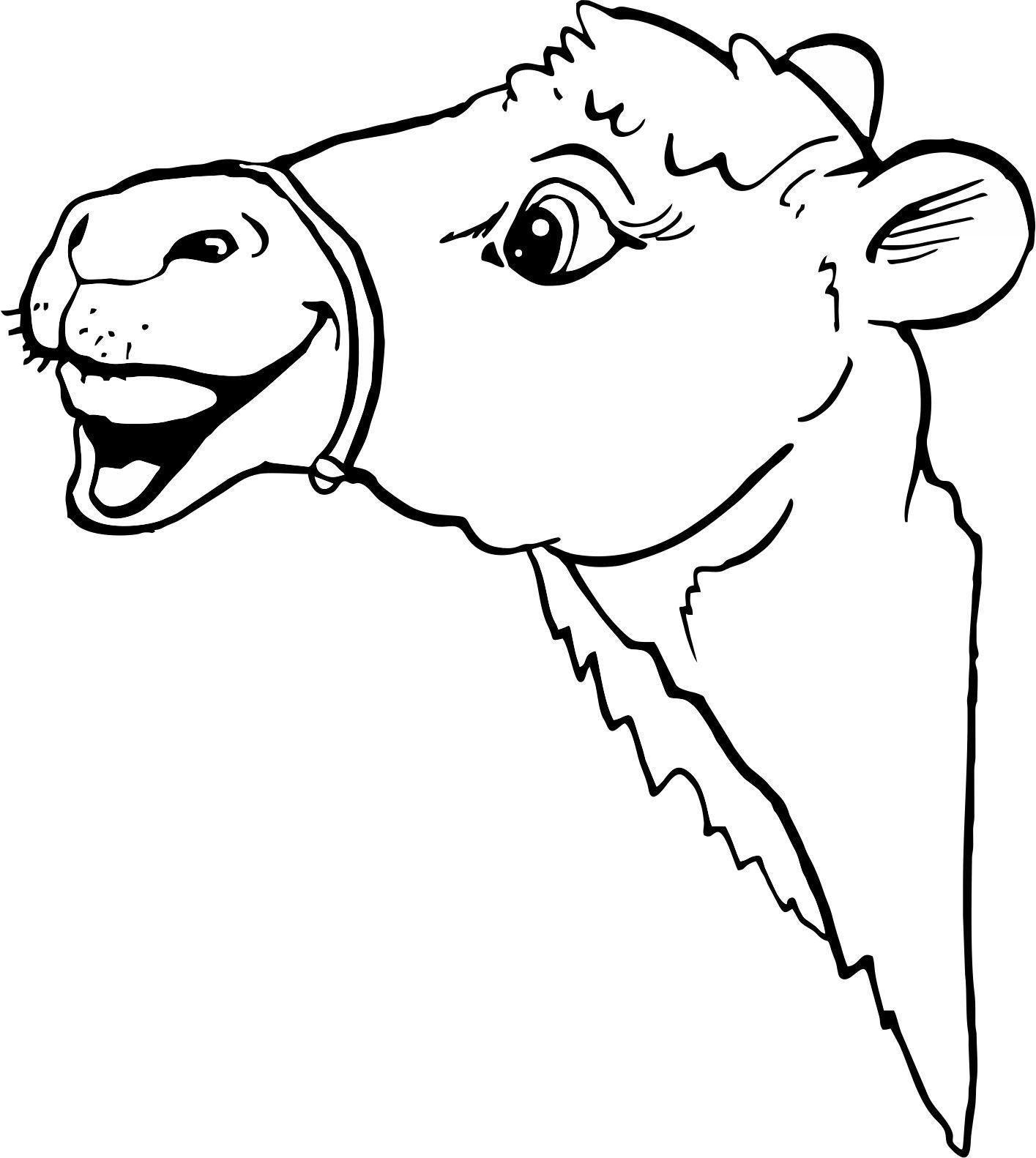 Kamelkopf Ausmalbilder Vektorisieren Ausmalen