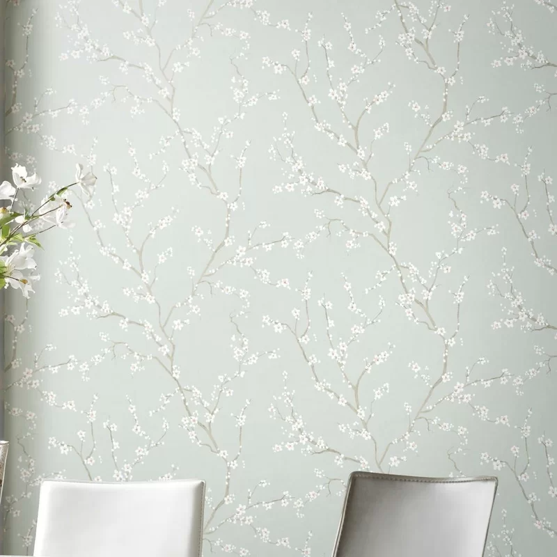 Sylvan Place Cherry Blossom 16 5 L X 20 5 W Peel And Stick Wallpaper Roll In 2021 Peel And Stick Wallpaper Wallpaper Roll Paintable Wallpaper
