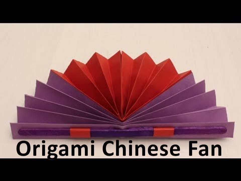 How To Make An Origami Chinese Fan