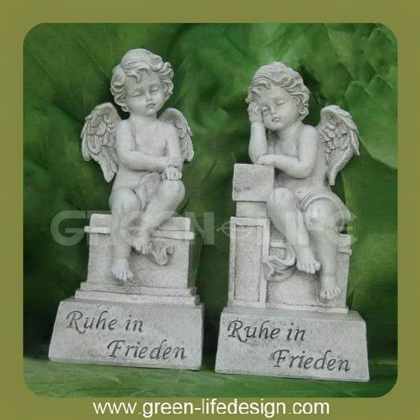 Boy poliresina gemelli giardino angelo bambola