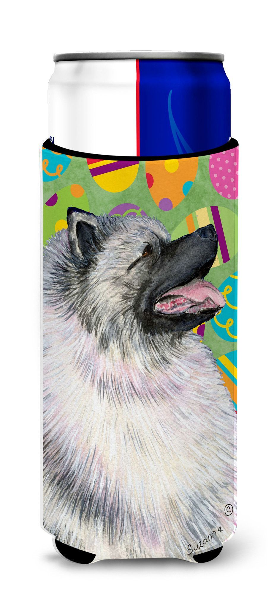 Keeshond Easter Eggtravaganza Ultra Beverage Insulators for slim cans SS4833MUK
