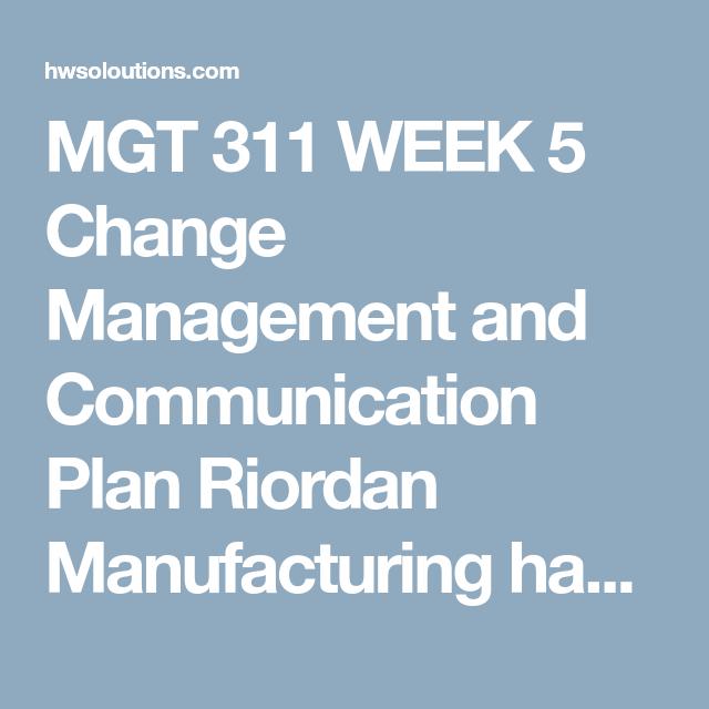 riordan manufacturing company