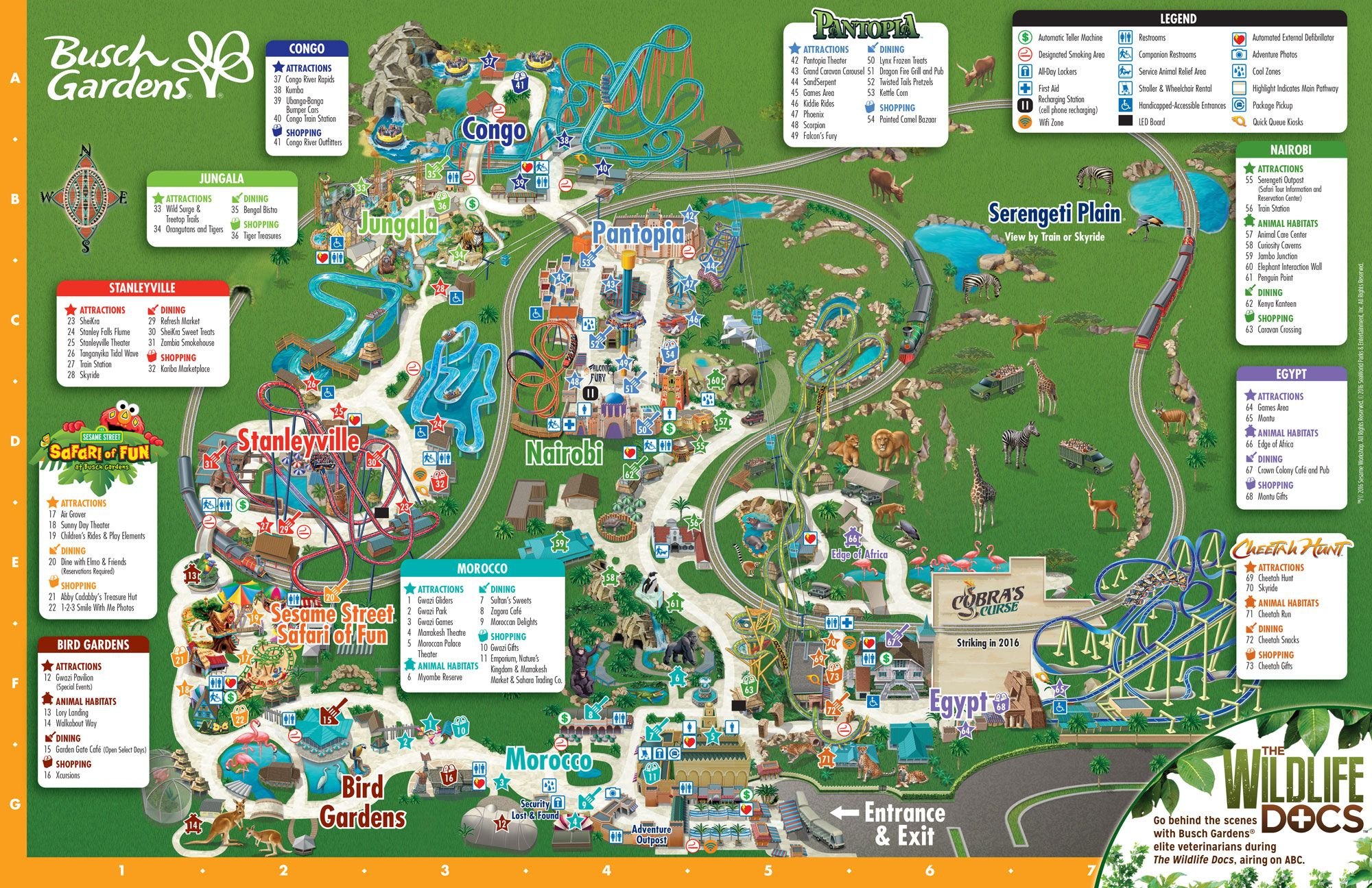 Park Map Busch Gardens Tampa Bay Tampa Bay Maps Pinterest Busch Gardens Tampa Bay Park