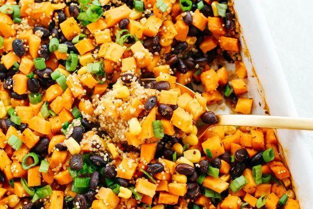 Image result for sweet potato black bean quinoa bake